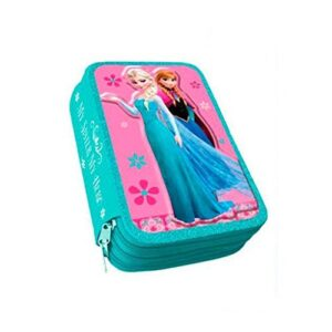 Astuccio Scuola 3 Zip Originale Disney Frozen Completo Di 44 Pezzi 0