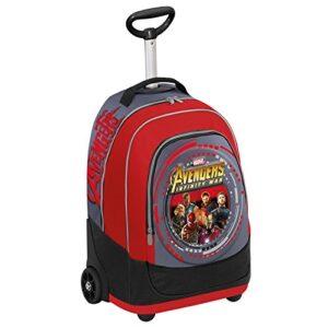 Big Trolley Marvel Avengers Infinity War Rosso Grigio 30 Lt 2in1 Zaino Con Spallacci A Scomparsa Scuola Viaggio 0
