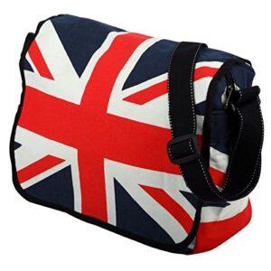 Borsa A Tracolla In Cotone Con Bandiera Union Jack 0