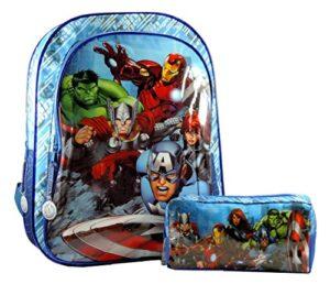 Completo Scuola Avengers Zaino Elementare Astuccio Portapastelli In Omaggio Cartella Bambino Iron Man Thor Capitan America Hulk 0
