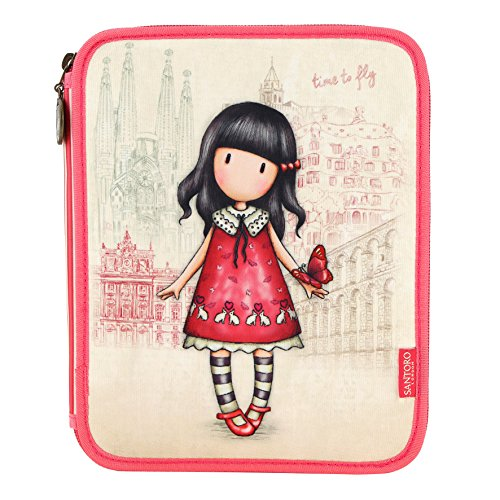 Gorjuss Cityscape Time To Fly Double Filled Pencil Case 0