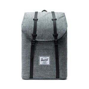 Herschel Supply Co Retreat Zaino Raven Crosshatch Gomma Nera 0