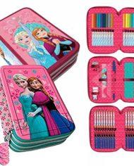 Kit Scuola 3 In 1 School Promo Pack Zaino Estensibile Astuccio 3 Zip Accessoriato Ombrello Salvaspazio Disney Frozen Anna E Elsa Edizione Nuova 0 2
