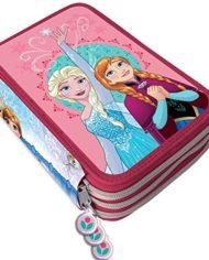 Kit Scuola 3 In 1 School Promo Pack Zaino Estensibile Astuccio 3 Zip Accessoriato Ombrello Salvaspazio Disney Frozen Anna E Elsa Edizione Nuova 0 3
