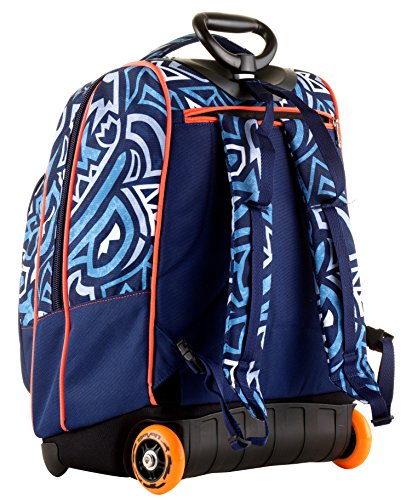 Seven Trolley Bambino Cartellina A4 Blu Arancione Spallacci A Scomparsa Zaino 35 Lt Scuola E Viaggio Idea Regalo Natale 0 2