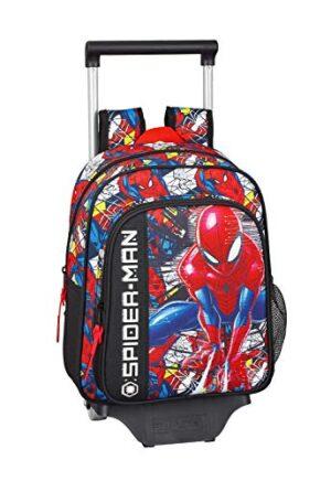 Spidermansuper Hero Ufficiale Zaino Per Bambini Con Carrello Safta 705 0