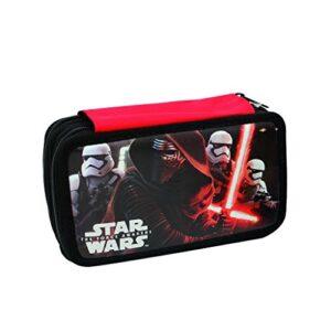 Star Wars Astuccio Triplo Con Colori Pennarelli Ed Accessori Scuola Poliestere Nero 20 Cm 0