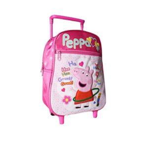 Trolley Bimba Zaino Peppa Pig Scuola Asilo Zainetto Bambina Rosa 28x22 0