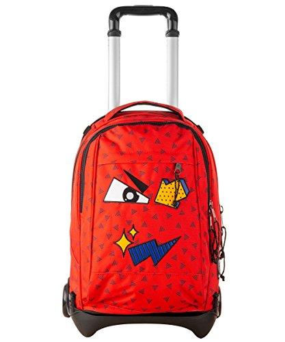 Trolley Invicta Plug Face Fiesta Red Zaino Sganciabile E Lavabile Scuola E Viaggio 35 Lt 0