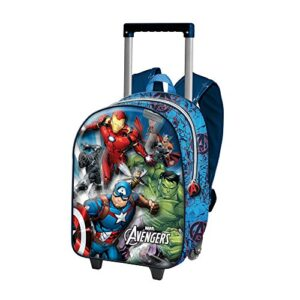 The Avengers Powerful 3d Rucksack Mit Rdern Klein Zainetto Per Bambini Blu 0