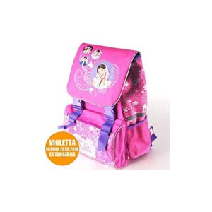 Trade Shop Traesio Zaino Estensibile Violetta My Song Disney Channel Scuola Bambine Elementari 0