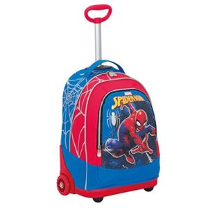 Trolley Marvel Ultimate Spiderman Webbed Wonder Rosso 30 Lt 2in1 Zaino Con Spallacci A Scomparsa Scuola Viaggio 0