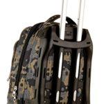 Trolley Tech Invicta Camou Verde Mimetico 34 Lt 2in1 Zaino Sganciabile Scuola Viaggio 0 3