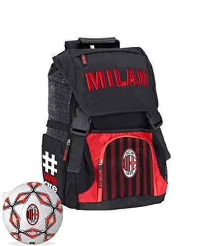 Zaino Scuola Estensibile Milan Linea Ufficiale Collezione 2018 0