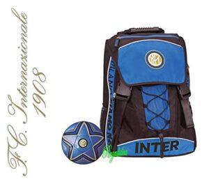 Zaino Scuola Inter Estensibile Originale Nuova Collezione Neroazzurro Calcio Tifoso Omaggio Pallone Omaggio Penna Glitterata Omaggio Segnalibro 0