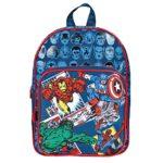 Zainetto Bambino Marvel Avengers Zaino Con Tasca Frontale Con Capitan America Iron Man Spiderman E Hulk Cartella Scolastica Per Lasilo E La Scuola Blu 31x24x12 Cm Perletti 0 0
