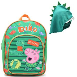 Zaini Peppa Pig Playhouse Zainetti Asilo Per Bambino Con Cappuccio Dinosauro 0