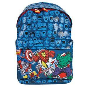 Zaino Bambino Marvel Avengers Zainetto Per Asilo E Scuola Con Capitan America Iron Man Spiderman E Hulk Blu 38x26x16 Cm Perletti 0