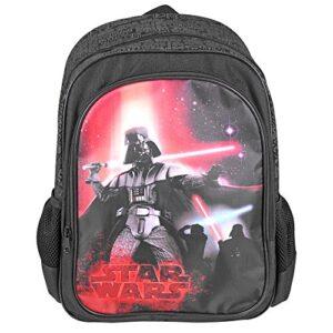 Zaino Bambino Star Wars Zaino Scuola Con Tasca Frontale Con Stampa Di Darth Vader Cartella Scolastica Guerre Stellari 42x28x12 Cm Nero Perletti 0