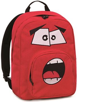 Zaino Invicta Ollie Pack Face 25 Lt Rosso Tasca Per Portatile E Tablet 0
