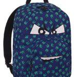 Zaino Invicta Ollie Pack Face Fantasy 25 Lt Blu Tasca Per Portatile E Tablet 0