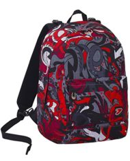 Zaino Seven The Double Flame Nero Rosso Cuffie Stereo Soft Touch 2 Zaini In 1 Reversibile 0 1