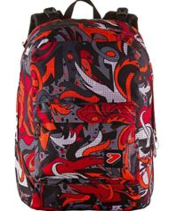 Zaino Seven The Double Flame Nero Rosso Cuffie Stereo Soft Touch 2 Zaini In 1 Reversibile 0 3