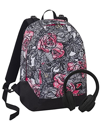 Zaino Seven The Double Rouge Nero Rosa Cuffie Stereo Soft Touch 2 Zaini In 1 Reversibile 0