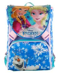 Zaino Scuola Estensibile Disney Frozen Magic Lights Blu 28 Lt Led Luminosi Gadget Inlcuso 0 1