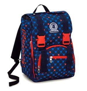 Zaino Scuola Estensibile Invicta Check Blu Rosso 28 Lt Elementari E Medie 0