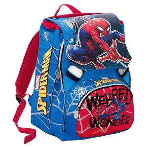 Zaino Scuola Estensibile Marvel Ultimate Spiderman Webbed Wonder Rosso 28 Lt Gadget Incluso 0