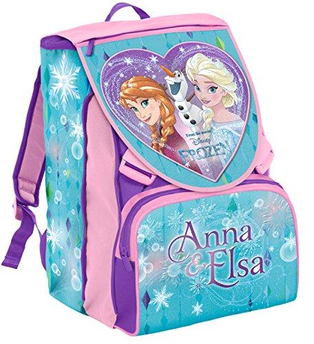 Zaino Scuola Estensibile Disney Frozen Magia Del Cuore Azzurro Rosa 31lt 0
