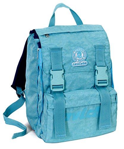 Zaino Scuola Estensibile Invicta Logo Azzurro 31lt 0