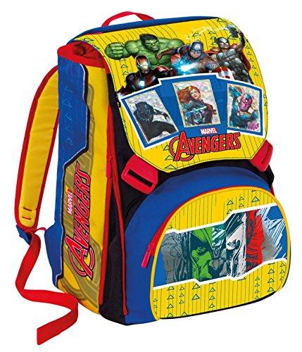 Zaino Scuola Estensibile Marvel Avengers Card Magnetiche Giallo Rosso 31lt 0