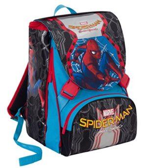 Zaino Scuola Estensibile Marvel Spiderman Homecoming Nero Blu Rosso 31lt 0