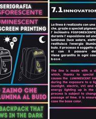 Zaino Scuola Advanced Seven Colorful Girl Nero Arancione Serigrafia Fotoluminescente 30 Lt Inserti Rifrangenti 0 2