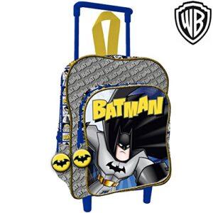 Bakaji Zaino Trolley Batman Warner Bros Originale Asilo Scuola Bambini Viaggi Altezza 30 Cm 0