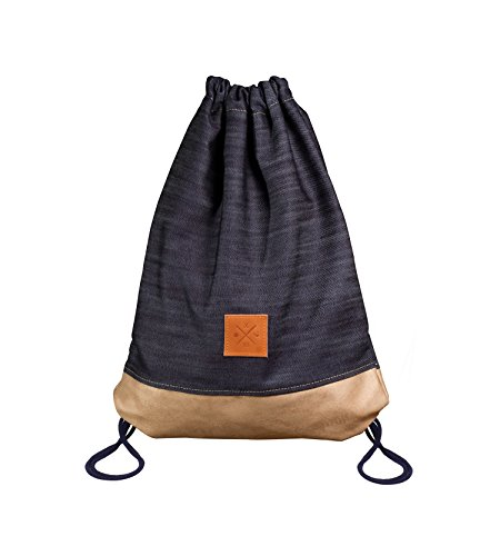 Denim Wood Sports Bag Jeans Alcantara Zaino Borsa Da Ginnastica Borsa Sportiva Da Palestra Gym Bag Manufaktur13 M13 0