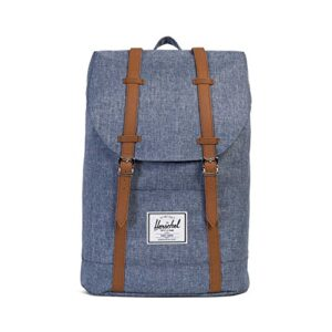 Herschel Supply Co City Mid Volume Zaino Dark Chambray Crosshatchtan Synthetic Leather Blu 10066 01570 Os 0