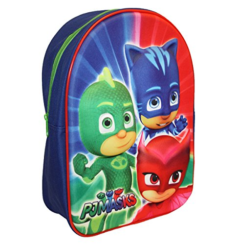 P J Masks Backpack Zainetto Per Bambini 32 Cm 830 Liters Blu Red 0
