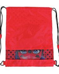 Perletti Sacca Porta Scarpe Bambina Miraculous Ladybug Borsa Scarpe Impermeabile A Pois Sacchetto Portatutto Lady Bug Per Sport E Per Viaggio Rosso E Nero 39×31 Cm 0 0