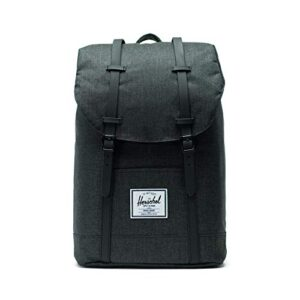 Zaino Herschel Retreat 195 Litre Nero Crosshatch Nero Rubber Default Nero 0