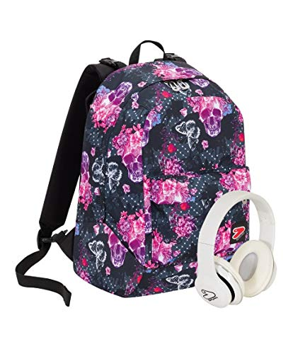 Zaino Seven The Double Queen Crown Rosa Cuffie Wireless 2 Zaini In 1 Reversibile 0