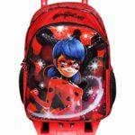 Zaino Trolley Ladybug Scuola Elementare Bambina Con Trolley Staccabile Zaino Miraculous Con Carrello E Ruote 0 0