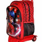 Zaino Trolley Ladybug Scuola Elementare Bambina Con Trolley Staccabile Zaino Miraculous Con Carrello E Ruote 0 1