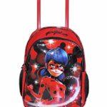 Zaino Trolley Ladybug Scuola Elementare Bambina Con Trolley Staccabile Zaino Miraculous Con Carrello E Ruote 0 2