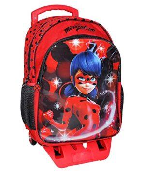 Zaino Trolley Ladybug Scuola Elementare Bambina Con Trolley Staccabile Zaino Miraculous Con Carrello E Ruote 0