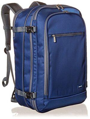 Amazonbasics Zaino Da Viaggiobagaglio A Mano Blu Navy 50l 0