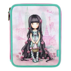 Gorjuss Cityscape Rosebud Double Filled Pencil Case 0
