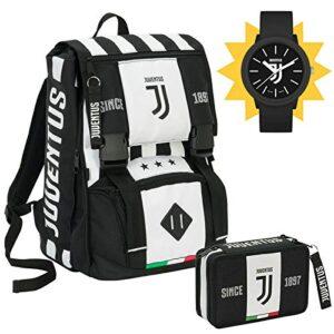 Seven Spa Fc Juventus Schoolpack Juventus League Zaino Sdoppiabile Astuccio 3 Zip Completo Di Cancelleria Con Orologio Ufficiale Lowell In Omaggio 0